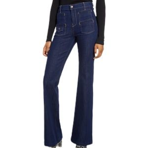 7 For All Mankind Dark Wash Georgia Flare Jeans 27